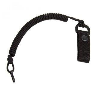 Паракордовый Страховочный шнур с карабином и креплением к поясу (YKK) EDCX FSC0003 Чорний