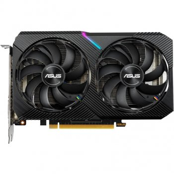 Asus PCI-Ex GeForce RTX 2060 Dual Mini OC 6GB GDDR6 (192bit) (1365/14000) (DVI-D, HDMI, DisplayPort) (DUAL-RTX2060-O6G-MINI)