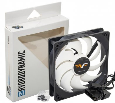 Вентилятор Frime (FWF120HB3) 120х120х25мм, 3-pin+Molex, Black/White
