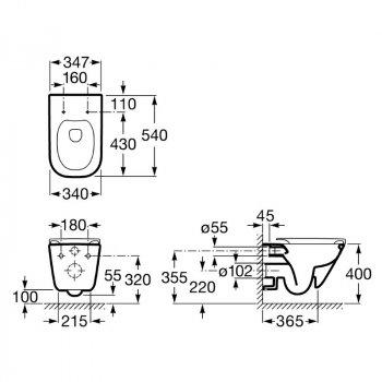 Комплект: GAP Rectangular унітаз підвісний з сидінням Slim, slow-closing + VOLLE MASTER NEO інсталяція для підвісного унітазу без клавіші