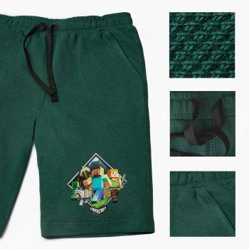 Шорти дитячі Майнкрафт (Minecraft) (9753-1175-DG) Бавовна Lacoste Темно-зелений