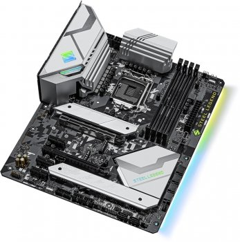 Материнская плата ASRock Z590 Steel Legend (s1200, Intel Z590, PCI-Ex16)