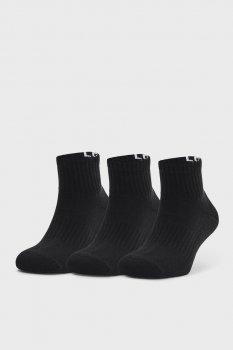 Чорні шкарпетки UA Core QTR (3 пари) Under Armour 1358344-001