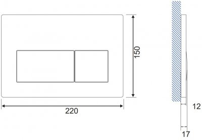 Панель смыва CERSANIT Presto K97-349 белая