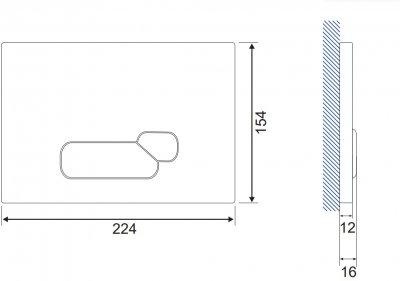 Панель смыва CERSANIT Actis S97-014 белая