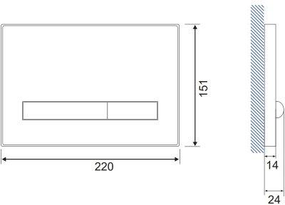 Панель смыва CERSANIT Pilot K97-359 белое стекло