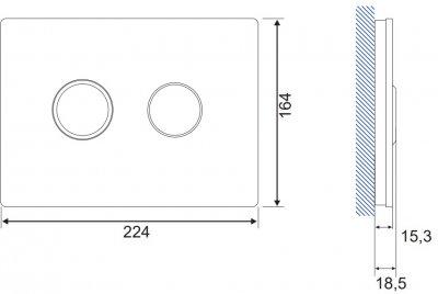 Панель смыва CERSANIT Accento Circle S97-053 черное стекло
