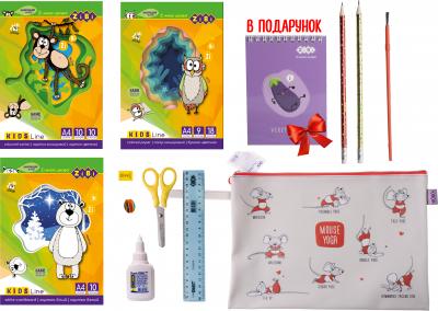Набор Бумажный бум для творчества ZiBi с бумагой и картоном в силиконовой папке (ZB.9973)