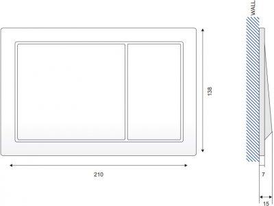 Панель смыва CERSANIT Enter K97-365 белая