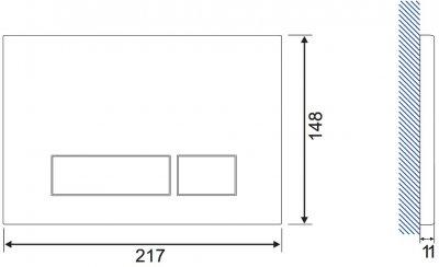 Панель смыва CERSANIT Torro антивандальная K97-356 матовая сталь