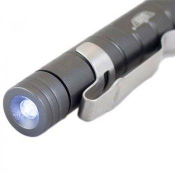 Тактична ручка UZI LED Light Tactical Defender Gun Metal Pen