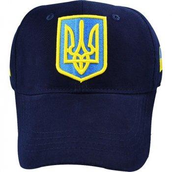 Кепка бейсболка Тризуб Украина темно-синяя на застежке M (55-57 см) 700-1530