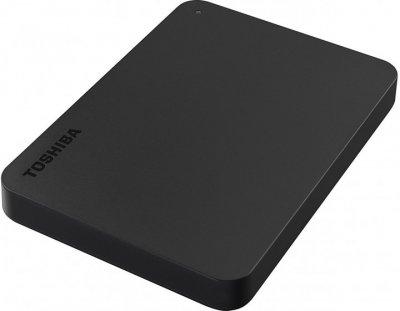 "Жесткий диск Toshiba Canvio Basics + USB-C адаптер 4TB HDTB440EK3CBH 2.5"" USB 3.2 Gen1 External Black"