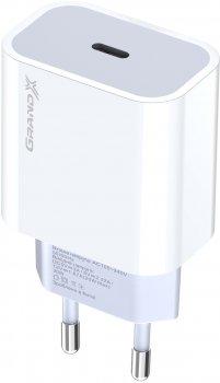 Зарядний пристрій Grand-X CH-770 20W PD 3.0 USB-C для Apple iPhone й Android QC 4.0, FCP, AFC (CH-770)