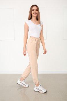 """Спортивні штани з високою талією Fashion Girl """"Matrix"""" бежевий"""
