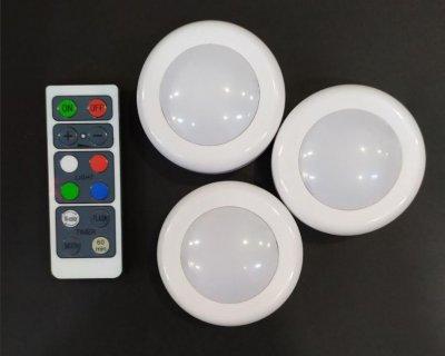 Светодиодные LED фонари Лампы для дома 3 шт Magic Lights с пультом
