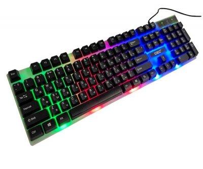 Провідна ігрова клавіатура c динамічною RGB підсвіткою і мишкою UKC 5559 (546387)