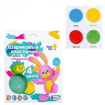 Набор для лепки «Шариковый пластилин 4 цвета» Genio Kids (TA1801)