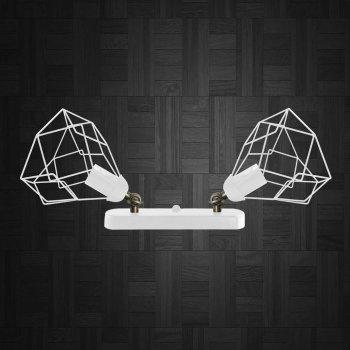 Светильник поворотный на 2-лампы RUBY/LS-2 E27 бра белый