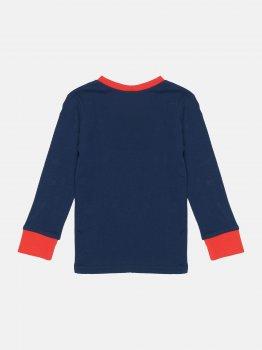 Футболка с длинными рукавами пижамная H&M 1702-5819629 Темно-синий/Mario