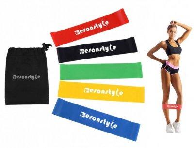Набір стрічок-еспандерів гумок для фітнесу Style 5 шт (43676)