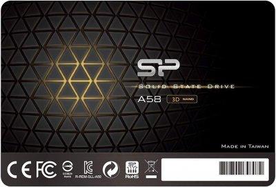 """Silicon Power A58 256GB 2.5"""" SATAIII 3D NAND TLC (SP256GBSS3A58A25)"""