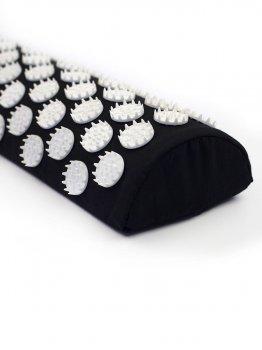 Напіввалик масажно-акупунктурний Igora ТМ Ігора RELAX 38 × 12 × 6 см чорний (PL-385)
