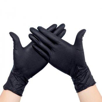 Перчатки нитриловые Medicom Safe Touch М 100 шт Черный (B-M)