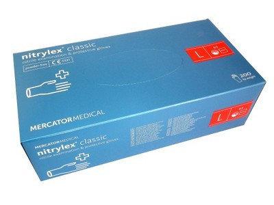 Перчатки нитриловые, неопудренные Mercator Medical Nitrylex Classic размер L - 100 шт Синий