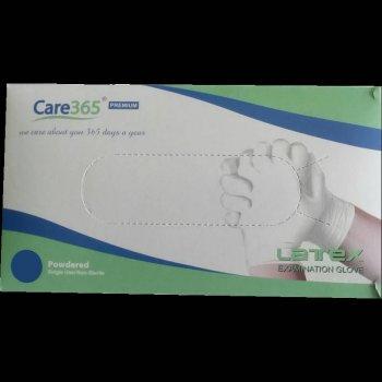 Перчатки латексные опудренные Care365 100 шт./уп. S Белый (365 SP)