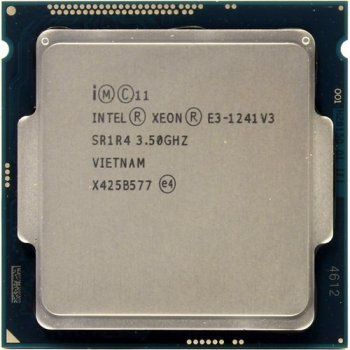 Процесор Intel Xeon E3-1241 V3 (s1150/4x3.5GHz/5GT/s/8MB/80Вт/BX80646E31241V3) Б/У