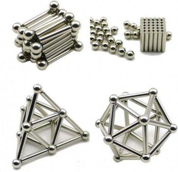 Магнитный конструктор Neo набор палочек и шариков