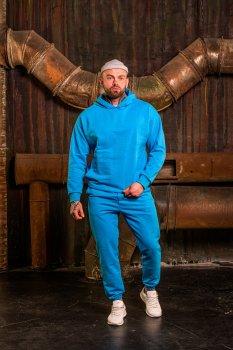 Мужской спортивный костюм Оверсайз BD2654 голубой