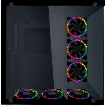 Корпус 1STPLAYER SP8-G3 RGB LED Black