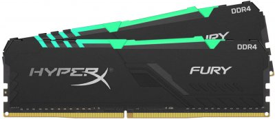 Оперативная память HyperX DDR4-2666 32768MB PC4-21300 (Kit of 2x16384) Fury RGB Black (HX426C16FB3AK2/32)