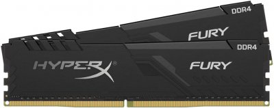 Оперативна пам'ять HyperX DDR4-2400 16384MB PC4-19200 (Kit of 2x8192) Fury Black (HX424C15FB3K2/16)