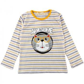 Реглан для мальчика BREEZE 15340 серый, желтый (482785)