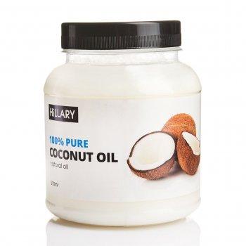 Кокосовое масло рафинированное Hillary Premium Quality Coconut Oil 500мл (131382)