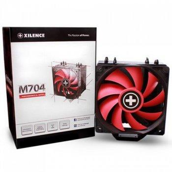Кулер процесорний Xilence M704 (XC051), Intel:LGA1150/1151/1155/1156/2011/2066, AMD:FM2+/FM1/FM2/AM4/AM3+/AM3/AM2+/AM2, 160х120х75 мм_