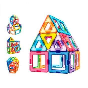 Магнитный конструктор Limo Toy MAGniSTAR 1002 46 деталей Цветные магниты Архитектура