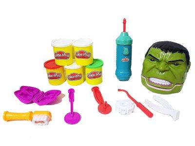 """Игровой набор Пластилин для лепки Play-Doh """"Стоматолог Халк"""" 6618"""