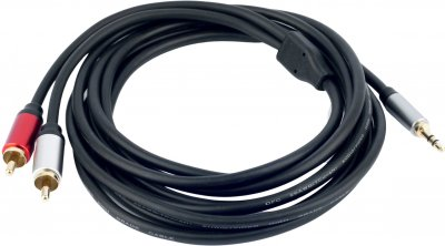 Кабель ProfCable 3.5 мм Stereo Plug to 2xRCA Plugs Cable 3 м Black (1-300)