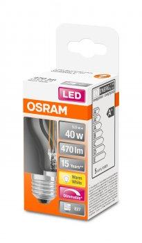 Светодиодная лампа Osram LED SUPERSTAR Filament P40 DIM 5W (470Lm) 2700К CRI95 E27 (4058075436800)