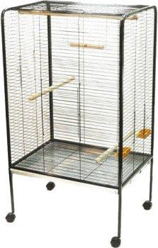 """Клетка для птиц FOP """"TIFFANY"""" оцинкованная на колесах 72 х 55.5 х 123.5 см Черная (8018084032031)"""