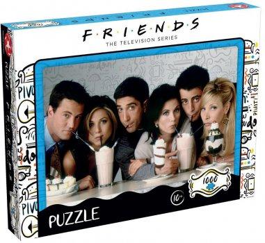 Пазл Winning Moves Jigsaw Puzzle Friends Milkshake 1000 елементів (WM00377-ML1-6) (5036905039604)
