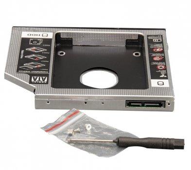 "Переходник Frime для установки 2.5"" SSD/HDD в отсек привода 12.7мм Black/Silver (FHDC127M)"