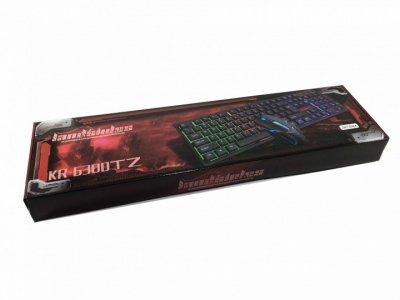 Професійна ігрова клавіатура c RGB підсвіткою і мишкою UKC HK-6300TZ (6300)