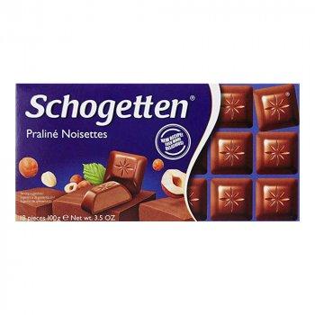 Шоколад молочний Schogetten Praline Noisettes з горіховім смаком 100 г