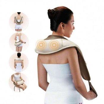 Ударный постукивающий массажер для спины плеч шеи Cervical Massage Shawls Pro вибромассажер
