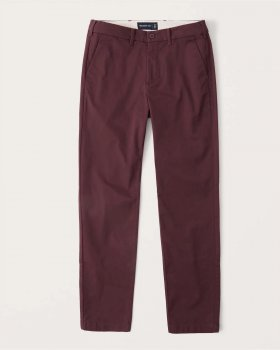 Брюки Athletic Skinny Chinos Abercrombie & Fitch AF8258M Бордовый